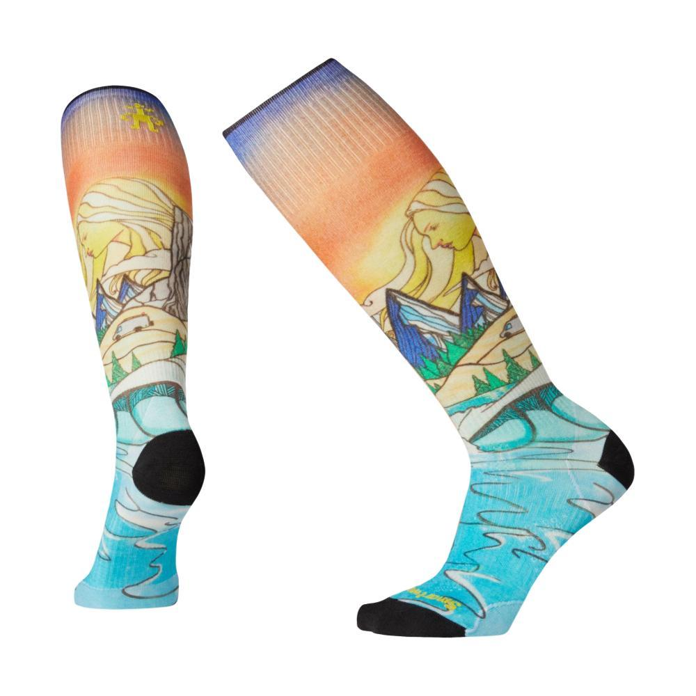 Smartwool Women's PhD Ski Ultra Light Lifecycle Print Socks MULTIC_150