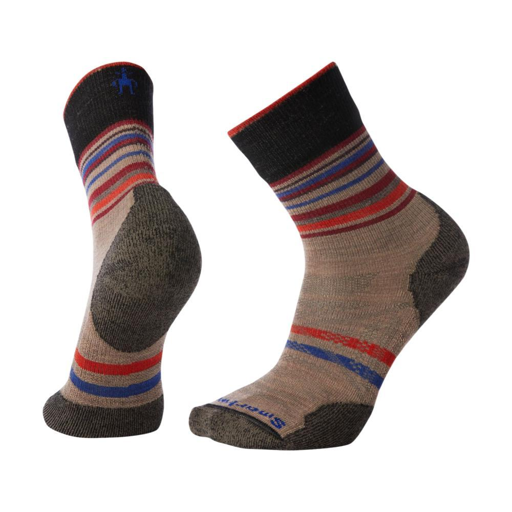 Smartwool Men's PhD Outdoor Light Pattern Mid Crew Socks FOSSIL_880