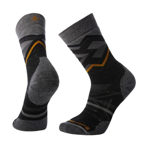 Smartwool Men's PhD Outdoor Medium Pattern Crew Socks Blackh_a52