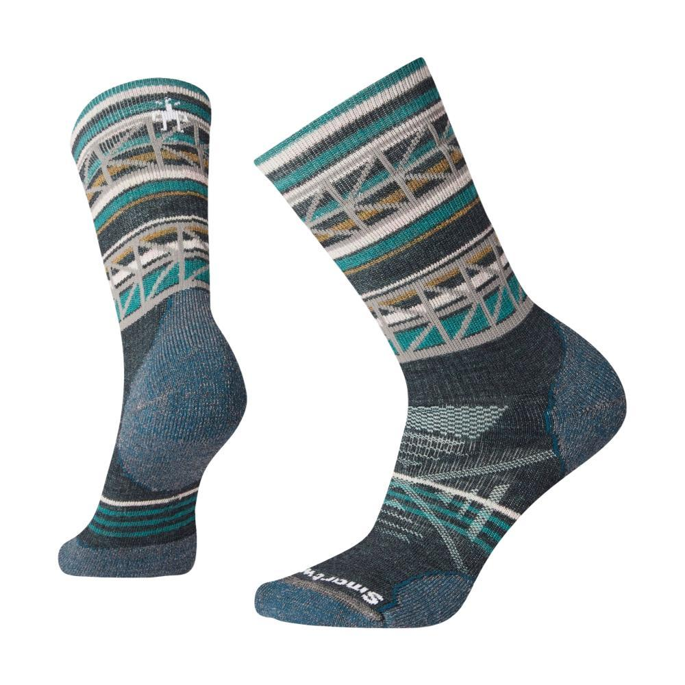Smartwool Women's PhD Outdoor Medium Pattern Crew Socks EVERGL_B96