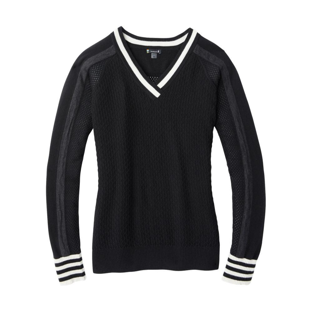 Smartwool Women's Frosted Valley V-Neck Sweater BLACK_001