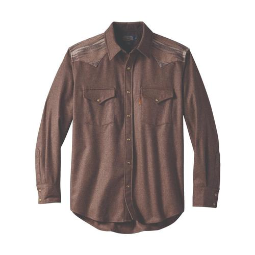 Pendleton Men's Pieced Jacquard Canyon Shirt Brwn28322