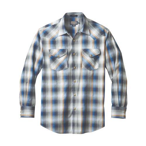 Pendleton Men's Long Sleeve Frontier Shirt Bluepl79015