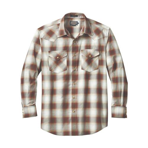 Pendleton Men's Long Sleeve Frontier Shirt Brwngry79019