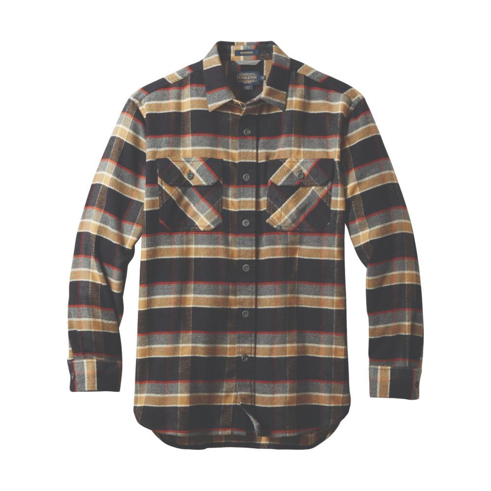 Pendleton Men's Burnside Double-Brushed Flannel Shirt BLKPLD79021