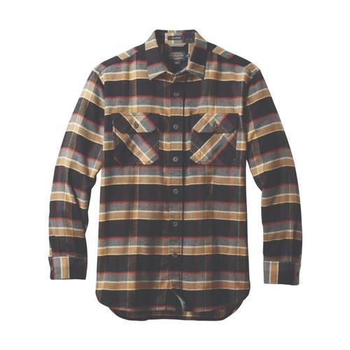 Pendleton Men's Burnside Double-Brushed Flannel Shirt Blkpld79021