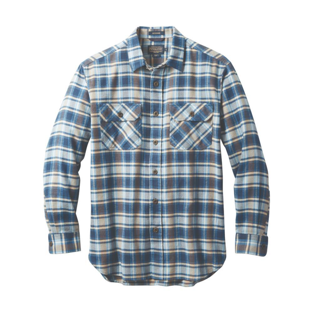 Pendleton Men's Burnside Double-Brushed Flannel Shirt NVYPLD79022