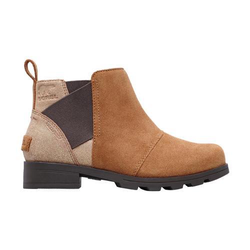Sorel Big Kids Emelie Chelsea Boots Camelbrn