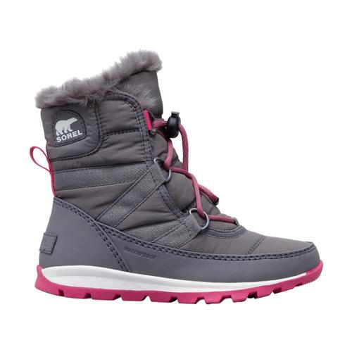 Sorel Big Kids Whitney Short Lace Boots Quarrypnk