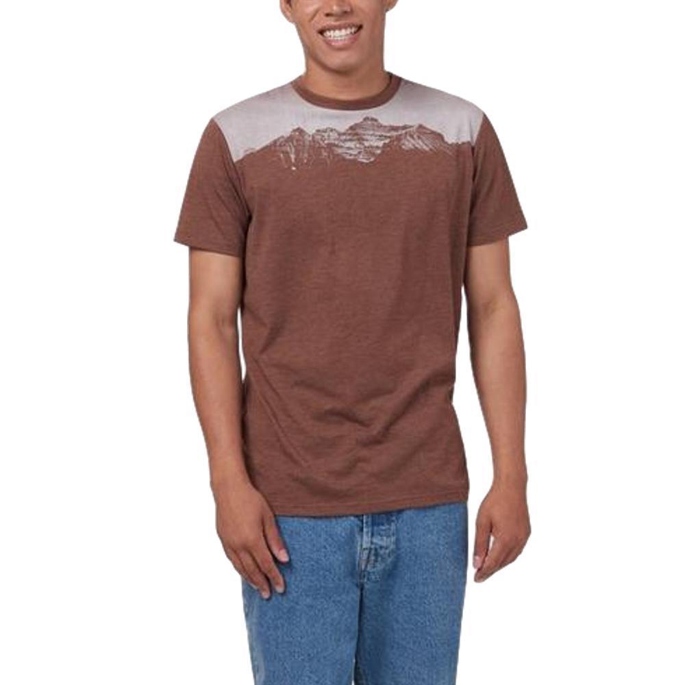 tentree Men's Mountain Juniper Short Sleeve T Shirt PINECONE