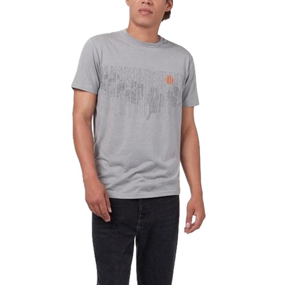 tentree Men's Woodlands Short Sleeve T Shirt HIRISEGREY