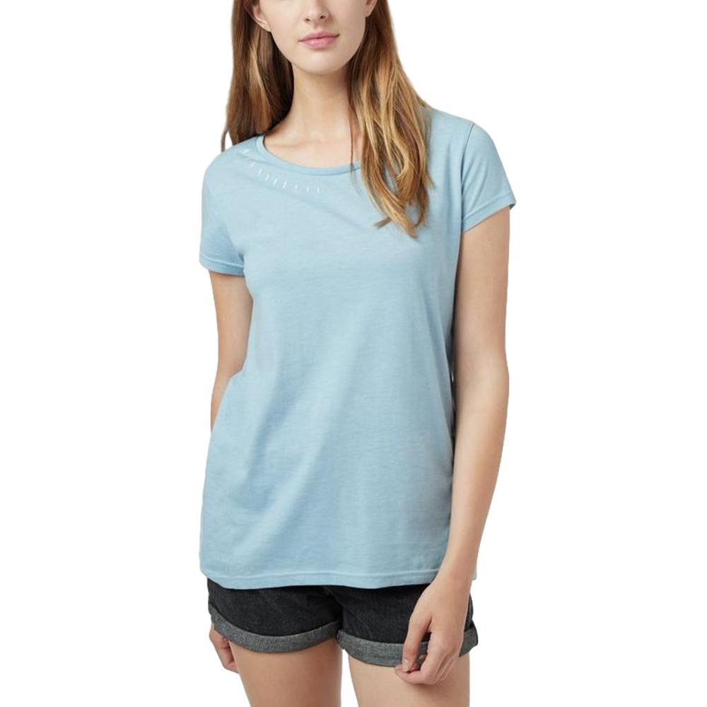 tentree Women's Timberline Short Sleeve T Shirt BLUEFOG