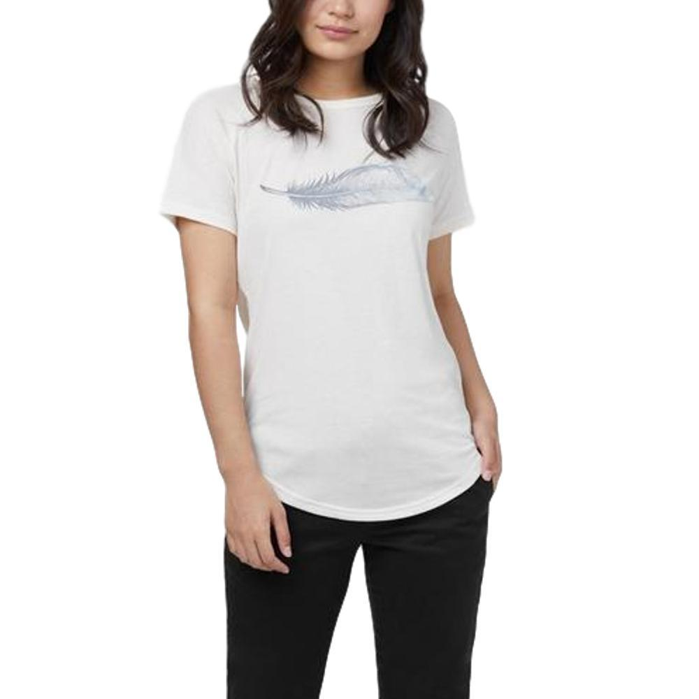 tentree Women's Feather Wave Short Sleeve T Shirt ELMWHITE