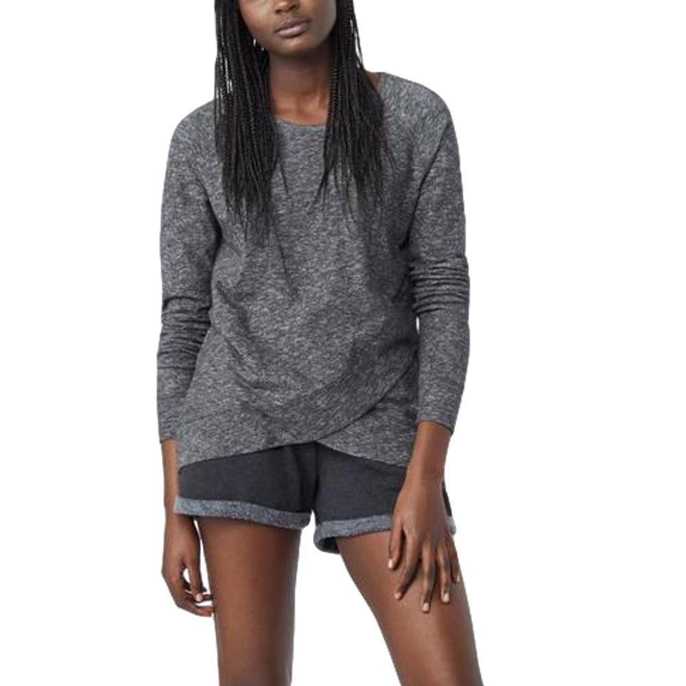 tentree Women's Acre Long Sleeve ev2 Sweater METEORITE