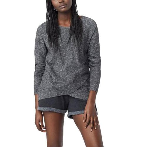 tentree Women's Acre Long Sleeve ev2 Sweater Meteorite
