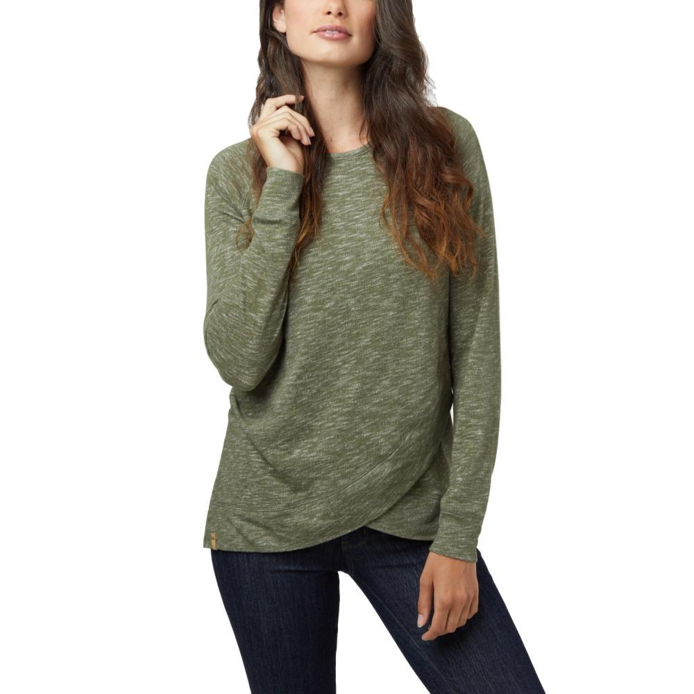 tentree Women's Acre Long Sleeve ev2 Sweater OLIVE