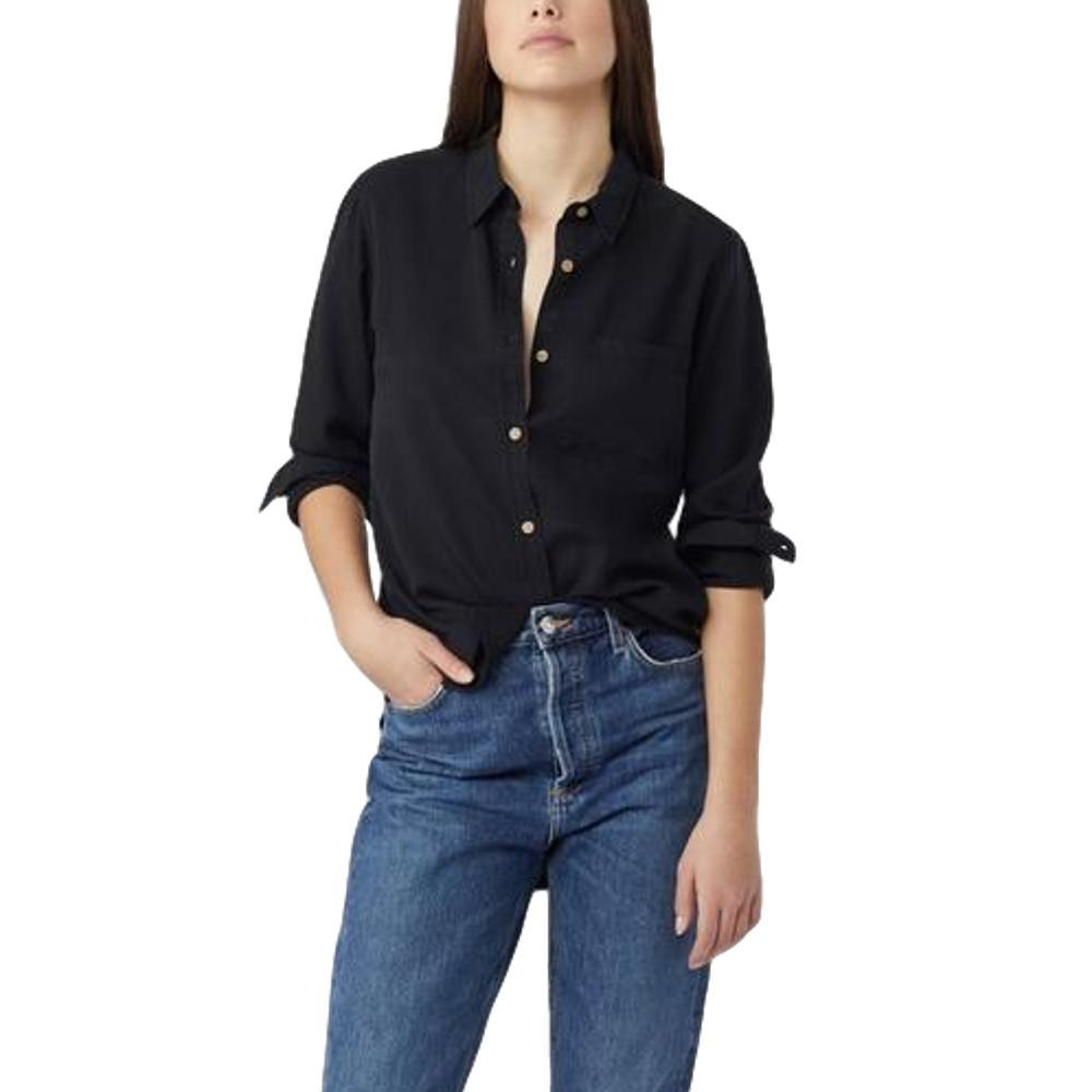 tentree Women's Fernie Long Sleeve Button Up Shirt METEORITE