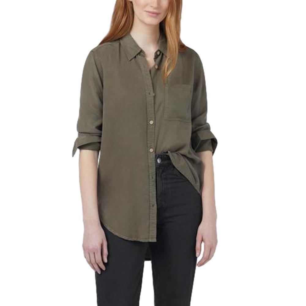tentree Women's Fernie Long Sleeve Button Up Shirt OLIVE