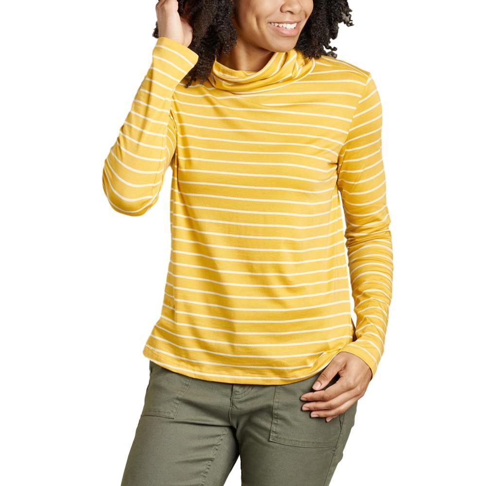 Toad&Co Women's Maisey Long Sleeve T-Neck Shirt GOLDENHOUR_736