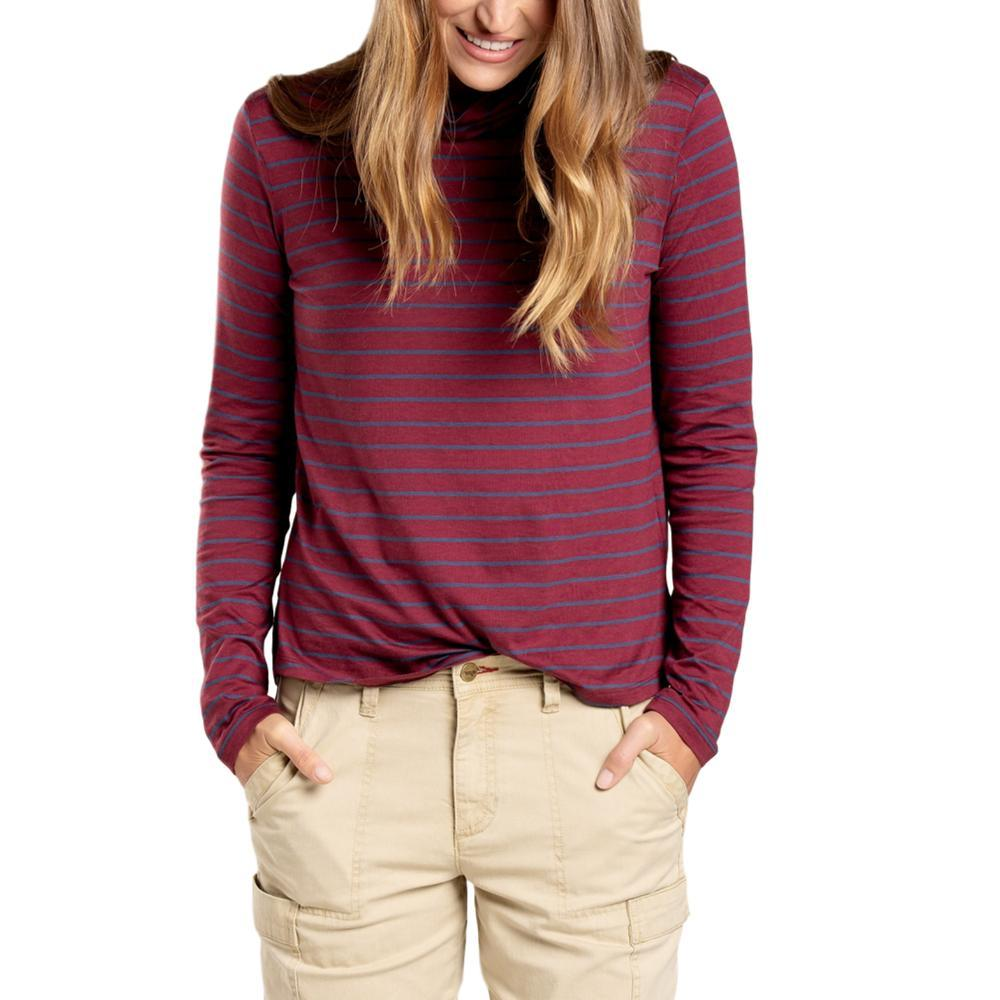 Toad&Co Women's Maisey Long Sleeve T-Neck Shirt PORT_604
