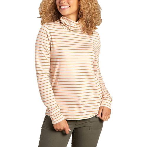 Toad&Co Women's Maisey Long Sleeve T-Neck Shirt Saltst_122