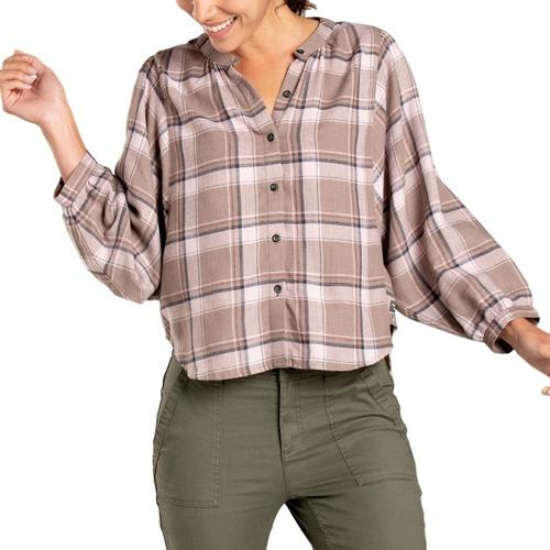Toad&Co Women's Hartland Long Sleeve Shirt Cocoa_230