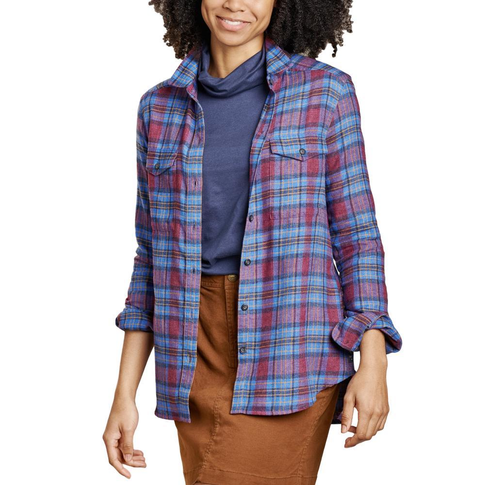 Toad&Co Women's Re-Form Flannel Long Sleeve Shirt BLUEMOON_448