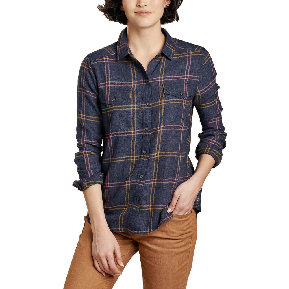 Toad&Co Women's Re-Form Flannel Long Sleeve Shirt TRUENAVY_414