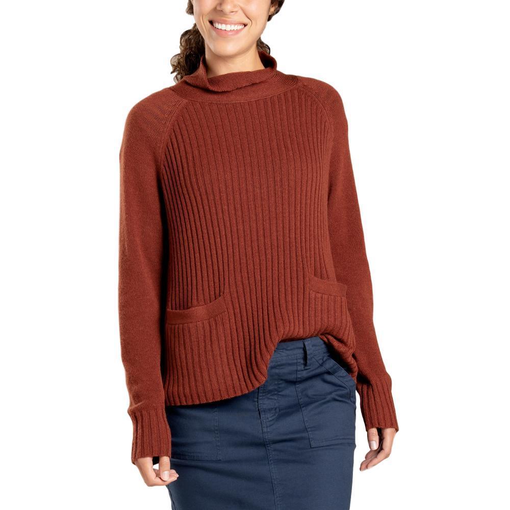 Toad&Co Women's Clementine Mockneck Sweater PAPRIKA_843
