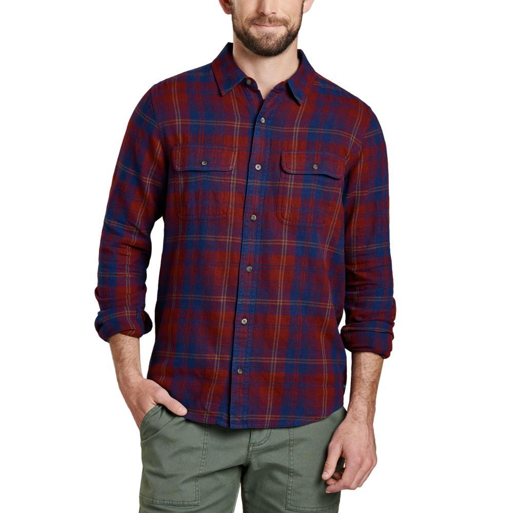 Toad&Co Indigo Flannel Long Sleeve Slim Shirt PORT531