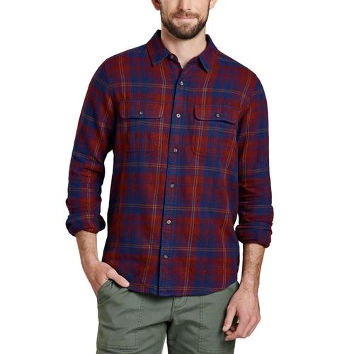 Toad&Co Indigo Flannel Long Sleeve Slim Shirt Port/531