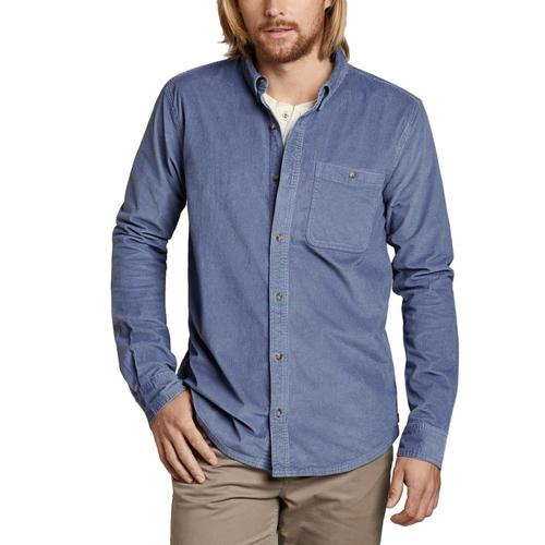 Toad&Co Men's Cruiser Cord Long Sleeve Shirt Stone/088