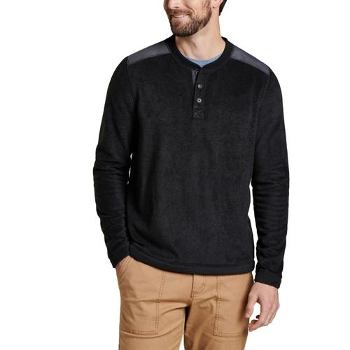 Toad&Co Men's Cashmoore Henley Long Sleeve Shirt Blk/100
