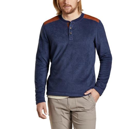 Toad&Co Men's Cashmoore Henley Long Sleeve Shirt Truenvy/414