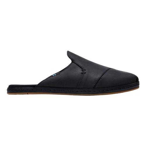 TOMS Women's Nova Wrap Black Leather Slip-Ons Blk.Lth