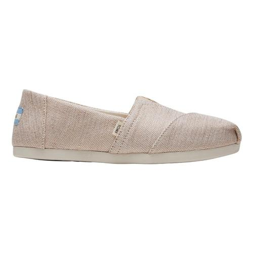 TOMS Women's Natural Metallic Woven Slip-Ons Nmetl.Wovn