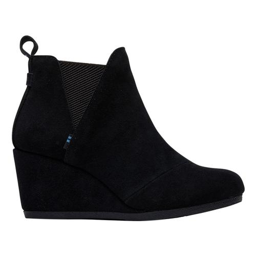 TOMS Women's Black Suede Kelsey Booties Blk.Sd