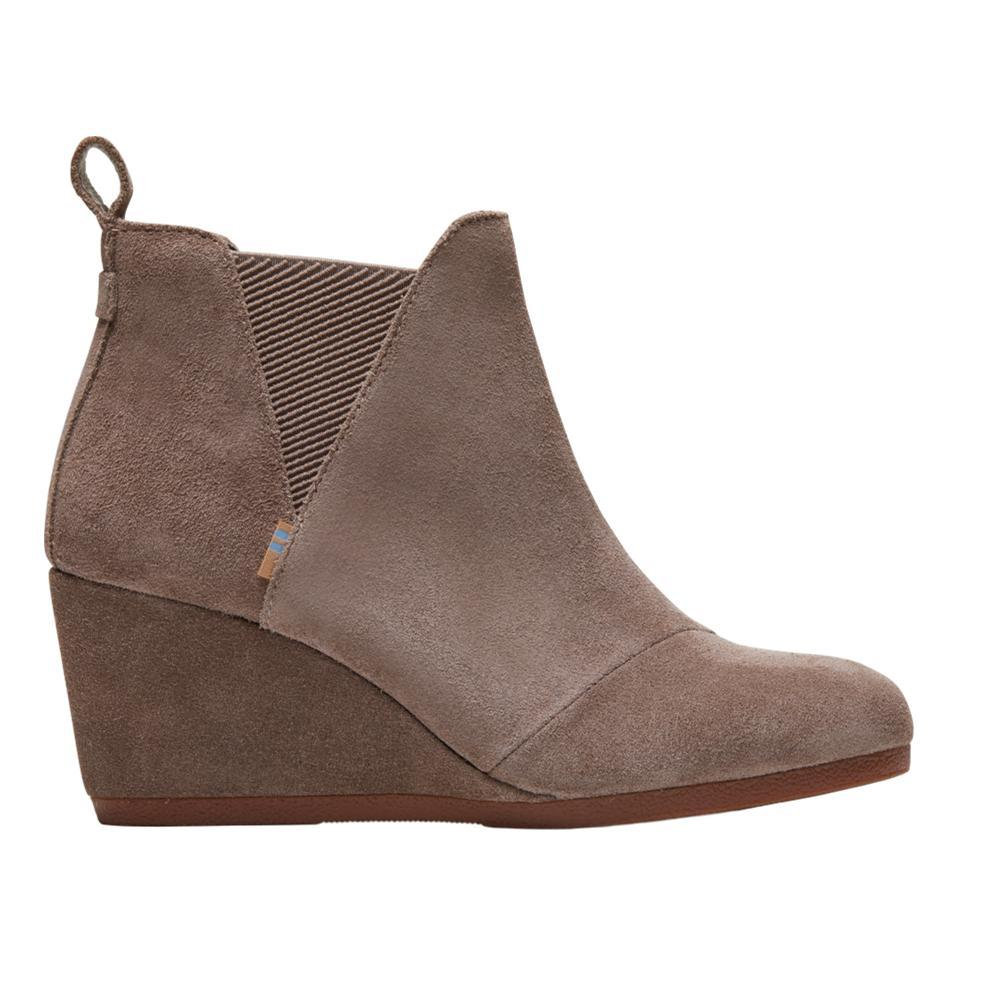 TOMS Women's Taupe Gray Suede Kelsey Booties TAUPGRY.SD