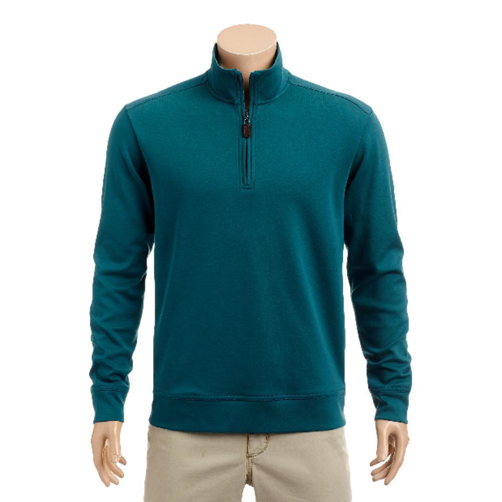 Tommy Bahama Men's Martinique Half Zip Sweatshirt DEEPTEAL