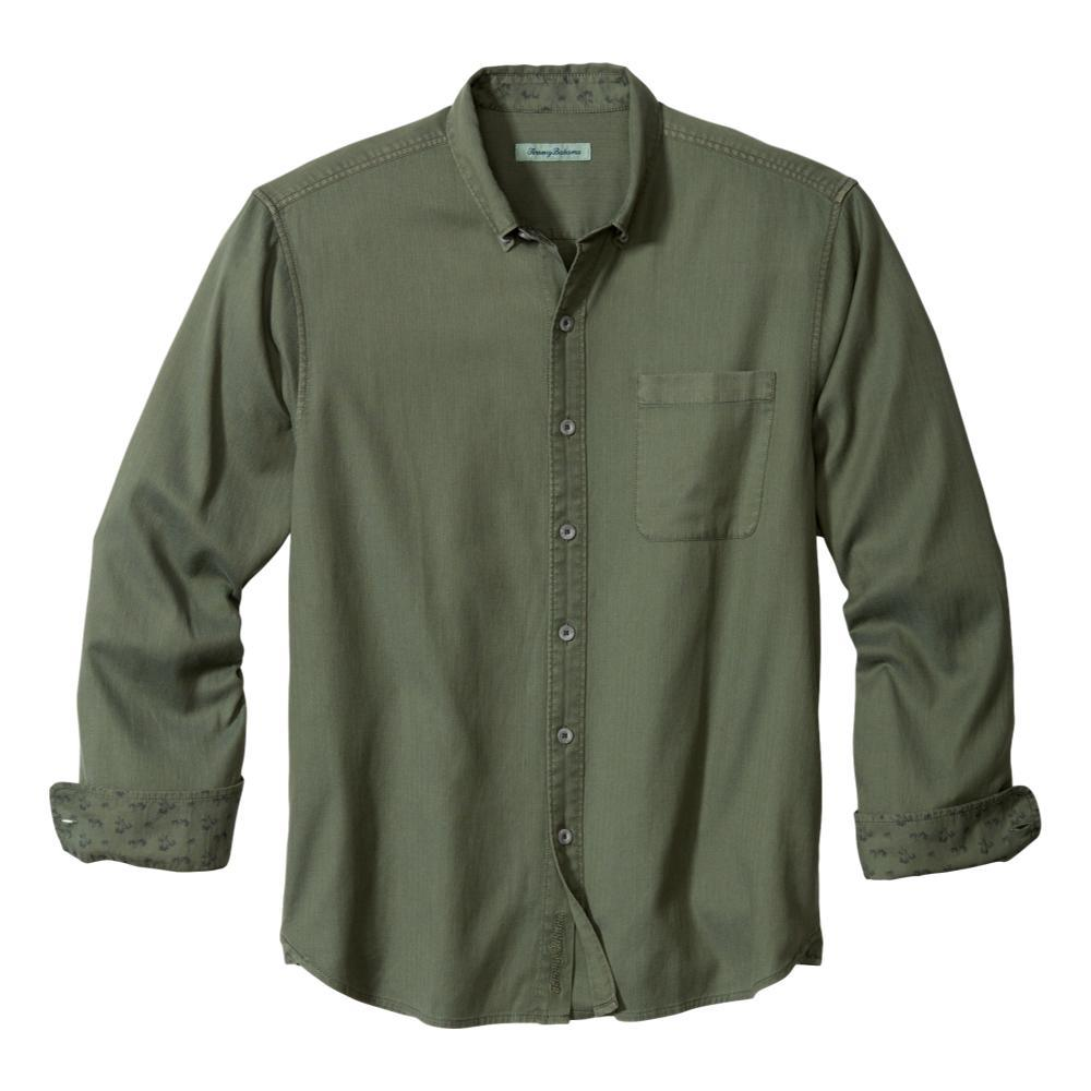 Tommy Bahama Men's Huntington Herringbone Shirt PALMMOSS