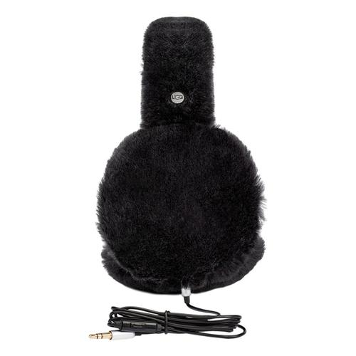 UGG Exposed Sheepskin Earmuffs Black_blk