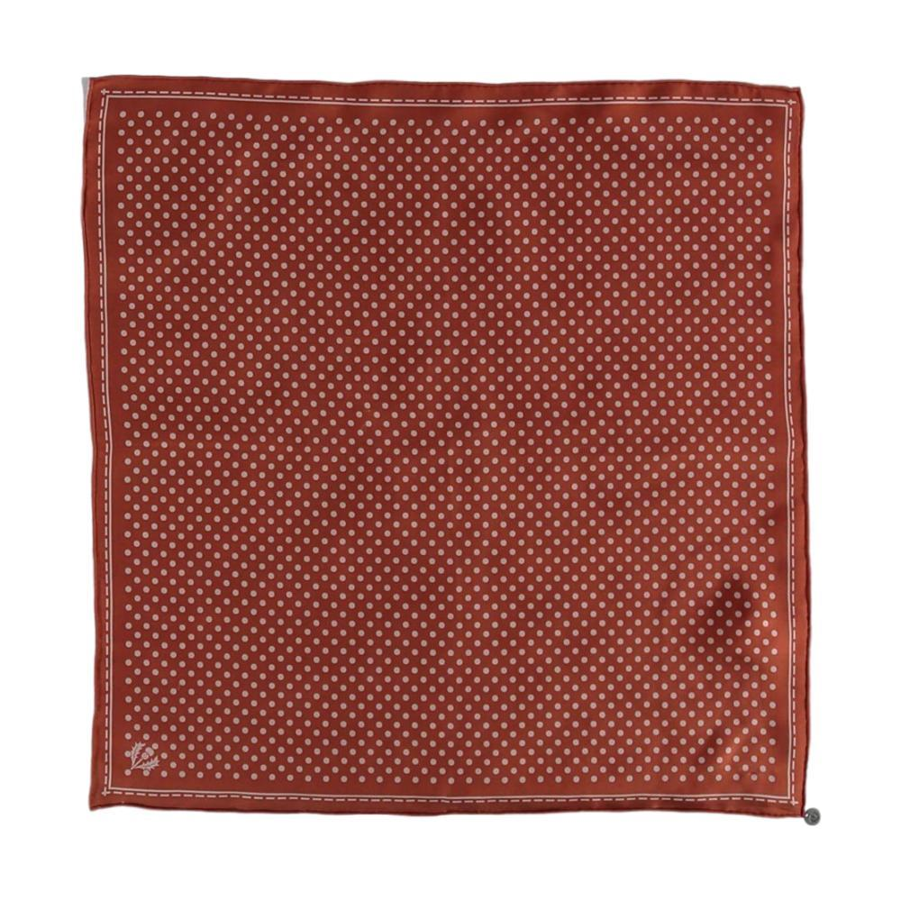 V. Fraas Classic Dottie Silk Square Printed Neckie COPPER_280