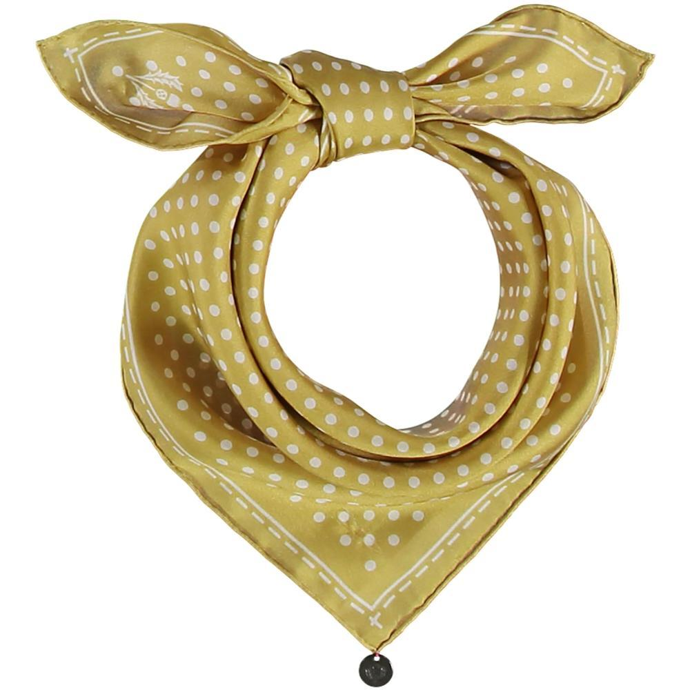 V. Fraas Classic Dottie Silk Square Printed Neckie LIME_710