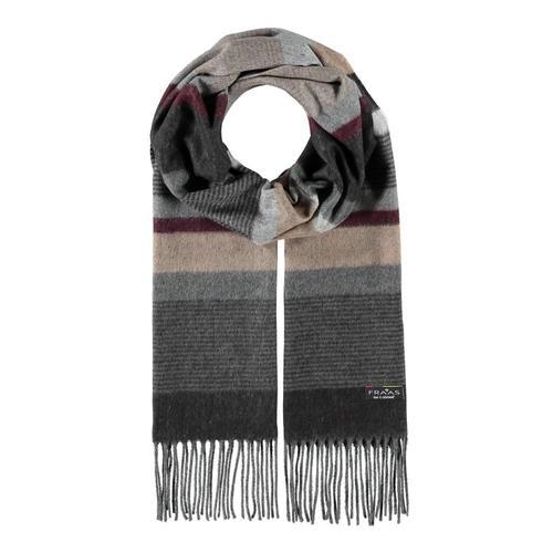 V. Fraas Men's Mixed Stripes Scarf Black_991