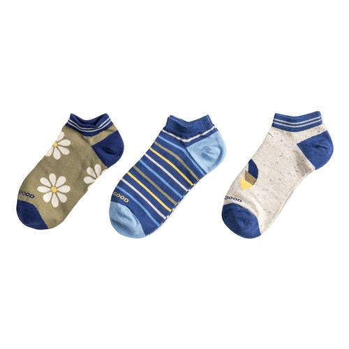 Life is Good Women's Daisy Low Cut Socks - 3-Pack Daisy