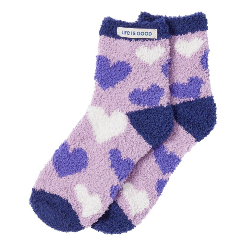 Life is Good Women's Heart Toss Snuggle Socks  MOONPURPLE