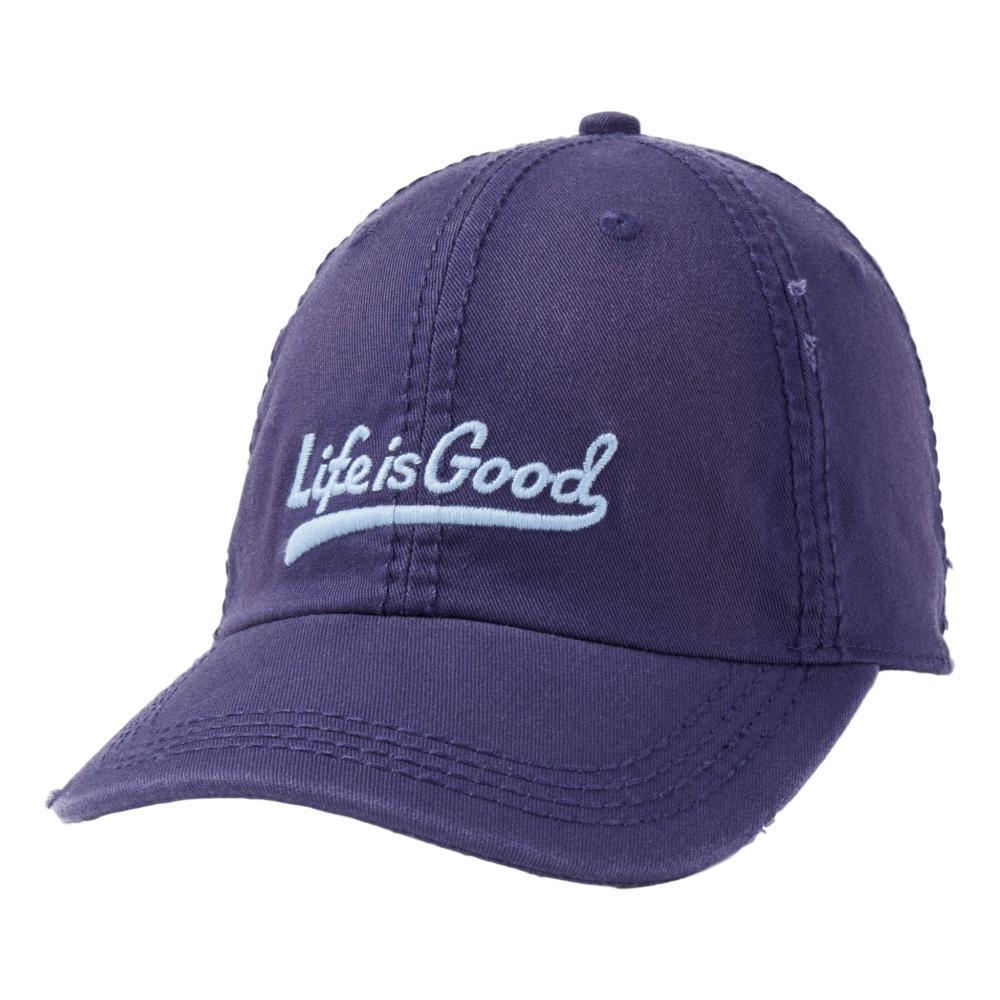 Life is Good Ballyard Script Sunwashed Chill Cap DARKSTBLUE