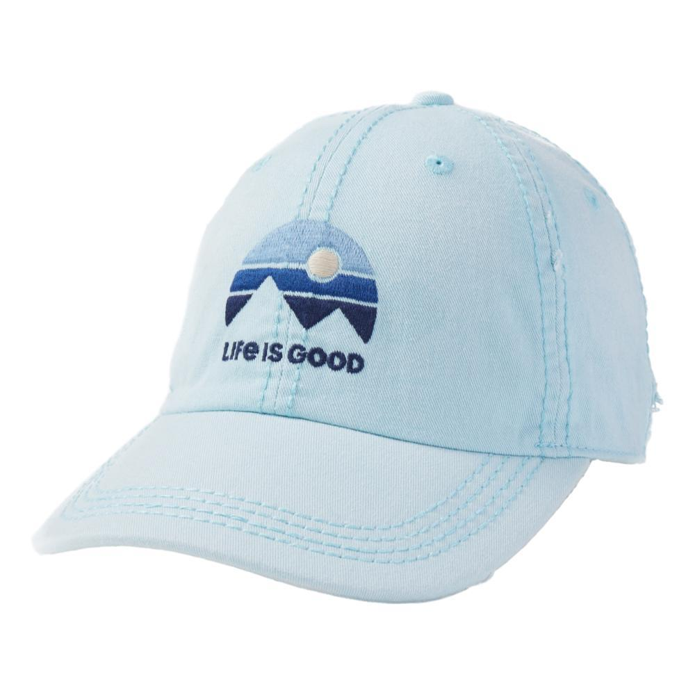 Life is Good LIG Mountain Vibes Sunwashed Chill Cap BEACHBLUE