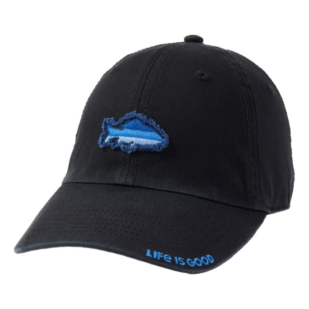 Life is Good Simple Fish Tattered Chill Cap NIGHTBLACK