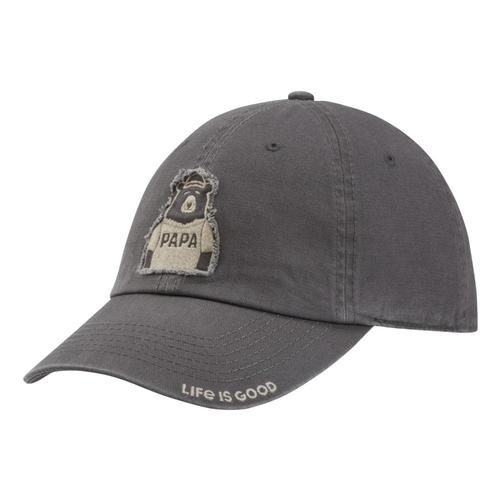 Life is Good Papa Bear Tattered Chill Cap Slategray